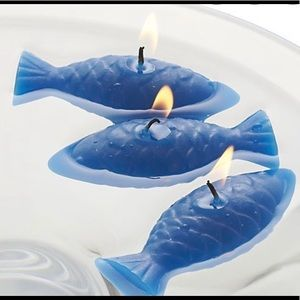 5 Fish Floating Candles